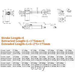 6000N 400mm 1000mm 40 Linear Actuator Motor DC 12V Heavy Duty Mounting Brackets