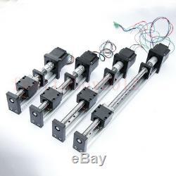 600mm Linear Stage Rail Guide Slide Actuator Ball Screw Motion Nema 23 Motor CNC