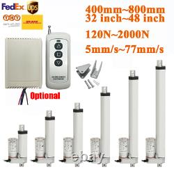 700mm 800mm 1000mm 1200mm DC 12V Linear Actuator Motor 2000N Remote Controller