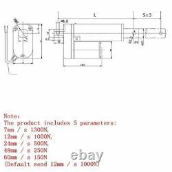 800mm/32in Stroke DC24V Electric Linear Actuator Putter Lifter Heavy Duty Motor