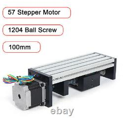 80 Double Track Precision Sliding Table 1204 Ball Screw&57 Series Stepper Motor