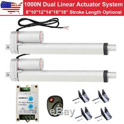 A Pair of 1000N Linear Actuators 12V Motor With Bracket Wireless Controller Kit CL