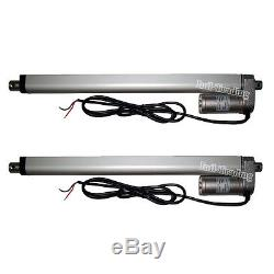 A Pair of 14 Stroke Electric Linear Actuator 220lbs 14mm/s 12V DC Tubular Motor