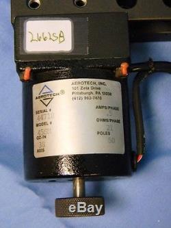 Aerotech ATS302E 5 x 5 x 1.5 Linear Optical Stage 2.5 Travel & 12VDC Motor
