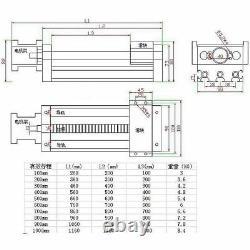 Ball Screw Linear CNC Slide Stroke 1000mm Long Stage Actuator Stepper Motor New