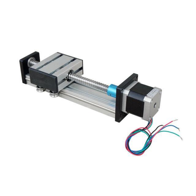 Ball Screw Linear Cnc Slide Stroke 100mm-300mm Long Stage Actuator Stepper Motor
