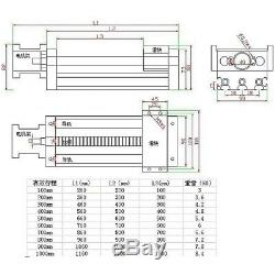 Ball Screw Linear CNC Slide Stroke 600mm Long Stage Actuator ZAxis Stepper Motor