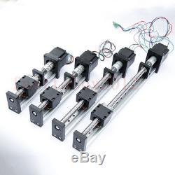 Ball Screw Linear CNC Slide Stroke L=700mm Stage Actuator NEMA23 Stepper Motor