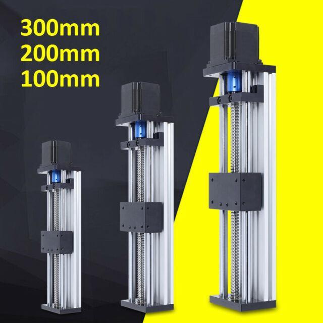 Ball Screw Linear Rail Motion Slide Table +23nema Stepper Motor Cnc 100-300mm Us