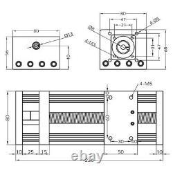 Ball Screw Linear Rail Motion Slide Table Nema23 Stepper Motor CNC 100-300mm