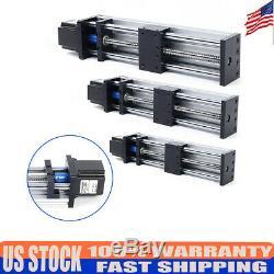 Ball Screw Linear Rail Motion Slide Table Nema23 Stepper Motor CNC 100-300mm 24V
