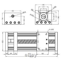 Ball Screw Linear Rail Motion Slide Table with23nema Stepper Motor CNC 100-300mm