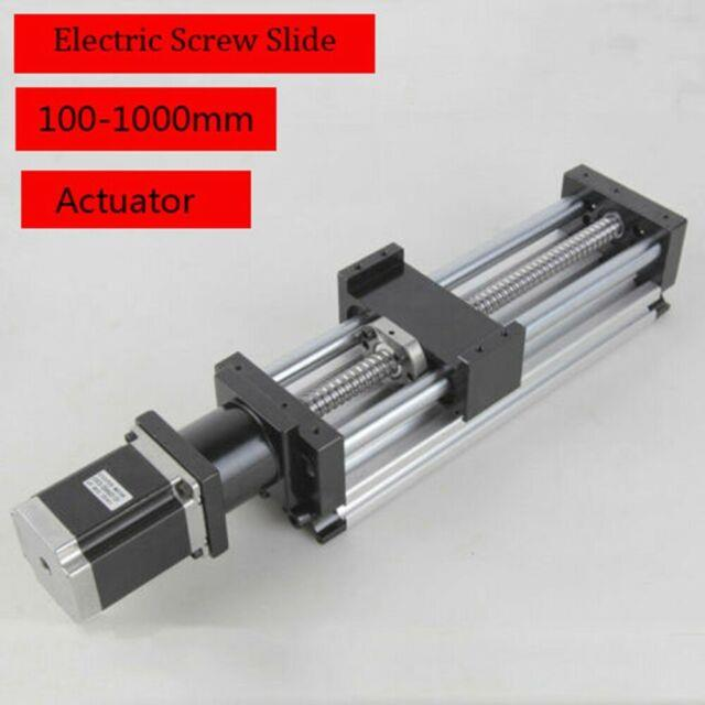 Ball Screw Sliding Table Linear Cnc Slide Actuator Step Motor Stroke 100-1000mm
