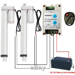 Bundle Kits2x 12 Linear Actuator 12V DC Motor +Remote Control for Traction Bed