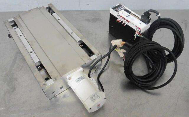 C155989 Iko Ball Screw Linear Positioning Stage, Panasonic Servo Motor & Driver