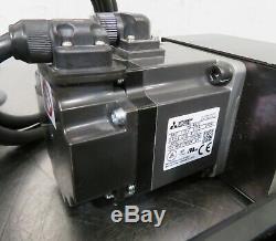 C170413 THK KR Ball Screw Linear Stage (410mm) Mitsubishi 200W Servo Motor+Drive