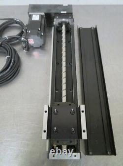 C170417 THK KR Ball Screw Linear Stage (310mm) Mitsubishi 200W Servo Motor+Drive