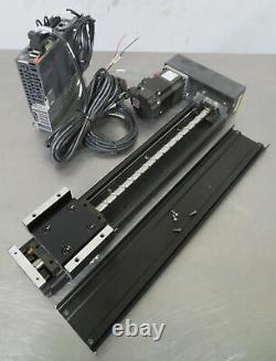 C170885 THK KR Ball Screw Linear Stage (310mm) Mitsubishi 200W Servo Motor+Drive