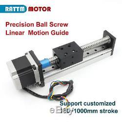 CBX1605-500mm Ballscrew Slide Stroke Linear Motion Guide & Nema23 Stepper Motor