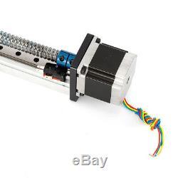 CNC Linear Actuator Stage Lead Screw Nema 23 motor +2 Limit Switch DIY 400-600mm
