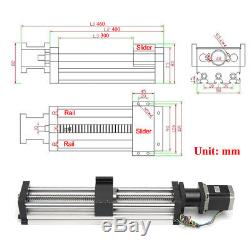 CNC Linear Motion Ball Screw Slider + Nema23 Stepper Motor 300mm Slide Stroke
