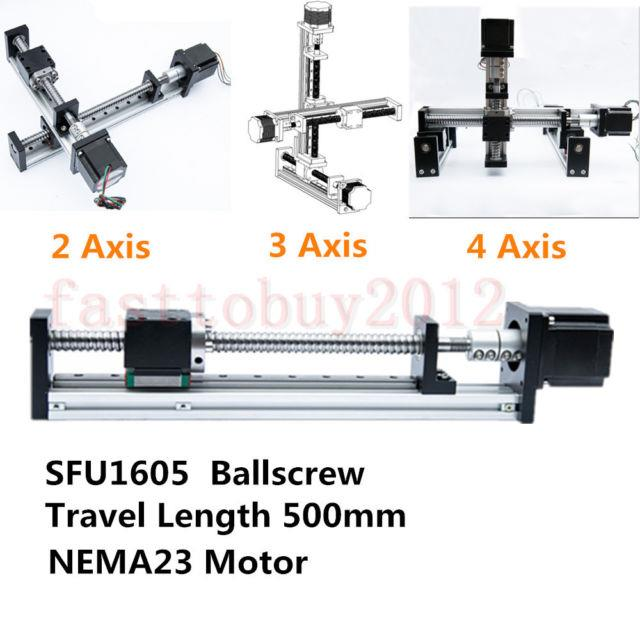 Cnc Linear Rail Guide Slide Stage Actuator Ball Screw Motion 500mm Nema 23 Motor