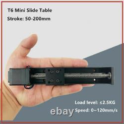 CNC MIni Linear Guide Rail Slide Actuator T6 Lead Screw Motion Stepper Motor