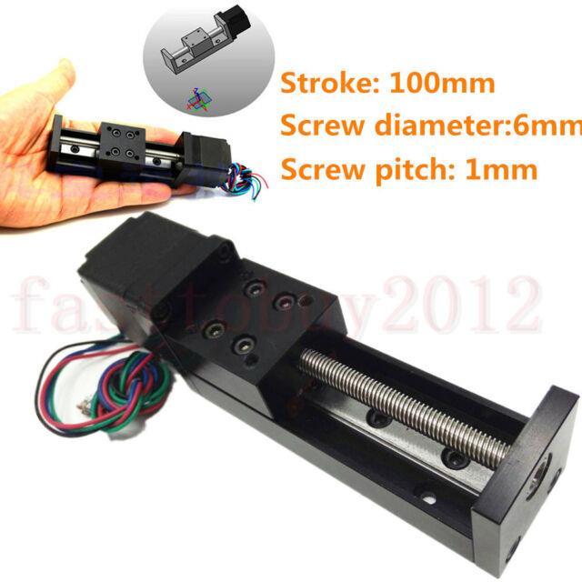 Cnc Mini Linear Stage Motion Sliding Table L100mm T6 Leadscrew Stepper Motor