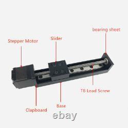 CNC Mini T6 Lead Screw Linear Motion Slide Nema11 Stepper Motor Stroke 50-200mm