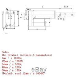 DC12V48V Electric Putter Stroke Electric Linear Actuator Putter Motor 50-1300mm