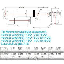 DC12V 24V 1500N/ 330lbs Electric Linear Actuator Motor 50mm 600mm 1000mm Bracket