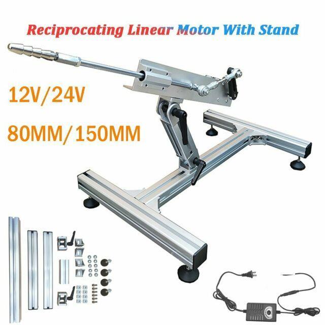 Dc 12v 24v Diy Reciprocating Linear Motor Aluminium Alloy Stand + Power Adapter