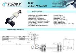 DC 12V 6inch(150mm) Stroke Slider Block Motor Linear Actuator 35mm/s Torque 60KG