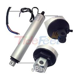 DC 24V Stroke 100mm 4 Speed 140mm/s Electric Linear Value Lift Motor 120N 26Lbs