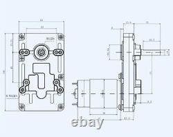 DIY Linear Actuator 12V 24V Reciprocating Motor 80-150mm Stroke 45/95/120rpm