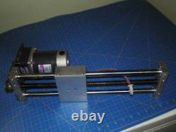 Dual Rod Linear Slide Actuator With DC 24v Motor With 3.6 Gearbox 300mm Travel
