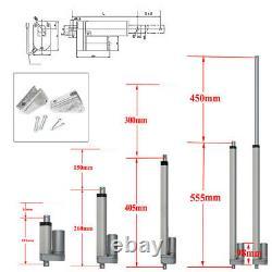 Electric Linear 12V Actuator Lift Motor Stroke 2-18 Auto Marine Robotics 3A