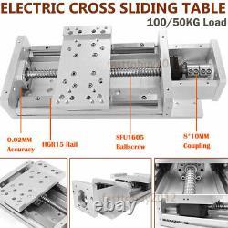 Electric Linear Rail Ballscrew Module Motorized Sliding Table 810mm Coupler CNC