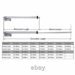 Electric Linear actuator 12V linear motor move distance stroke 20-500mm 0.8-20