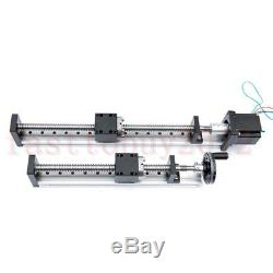 Electric NEMA23/Handwheel Linear Stage SFU1605 Guide Actuator L=300mm Ballscrew