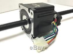 HSI 87F43-1.5-001 Stepper Motor with Encoder, Screw Linear Actuator 5/8 Rod 27 L