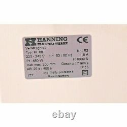Hanning Electric Motor Actuator KL88 8000N with U. K mains lead