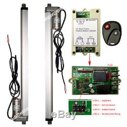 Heavy Duty 2x18 1000N 220lbs Linear Actuator +Remote Control 12V Electric Motor