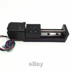 L50mm Linear Rail Slide Mini T6 Ballscrew Sliding Table 4mm Pitch &Stepper Motor