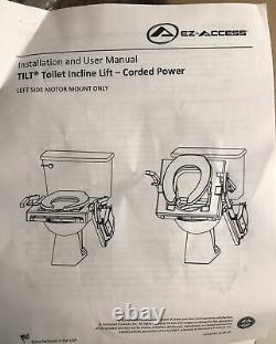 Linak EZ-Access Tilt Toilet Incline Lift Corded Power Left Side Motor Mount Only