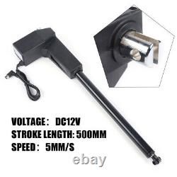 Linear Actuator DC12V Electric Motor 8000N Max Lift Water-proof Heavy Duty 500mm