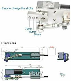 Linear Actuator Hubkolbenmotor DC 12V 24V für DIY Design 30mm 50mm 70mm Stroke