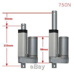 Linear Actuator Motor 24V 750N Stroke 50mm 100mm 450mm 800mm 750N-900N Push Load