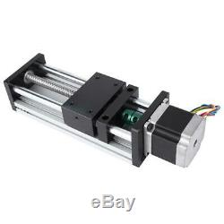 Linear Motion Double Shaft Ball Screw Guide Rail with 42 Motor 200mm Stroke