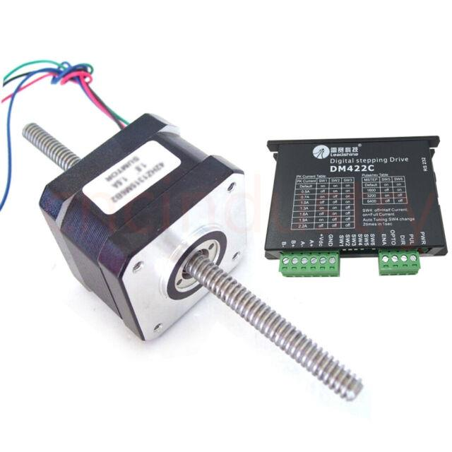 Linear Nema17 Stepper Motor Driver Screw Kit 0.22nm Through Shaft For 3d Printer